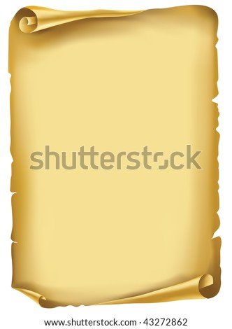 Vector. Old scroll, manuscript - stock vector