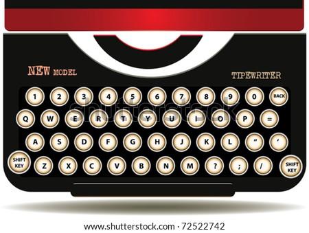 VECTOR Old Typewriter Keyboards - stock vector