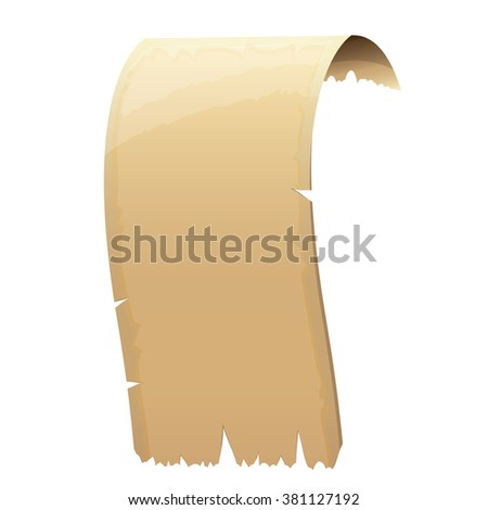 vector old vintage damaged paper scroll isolated on white - stock vector