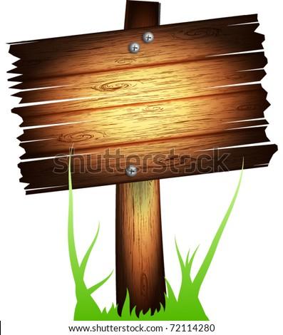 Vector old wooden board - stock vector