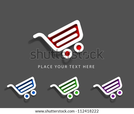 vector On-line shopping web icons. - stock vector