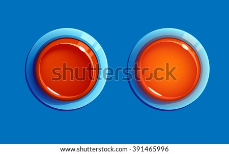 Vector on/off buttons (pushed). User Interface. Vector Illustration EPS10. - stock vector