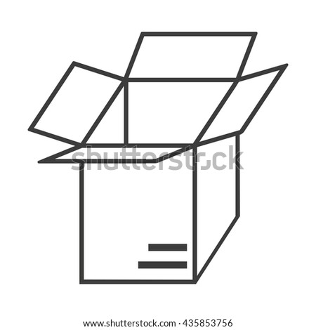 Vector Open box icon. Flat icon Open box. Flat vector illustration for web and mobile. Vector Open box icon graphic. Vector icon isolated on white background. Open box vector icon in black. Abstract   - stock vector