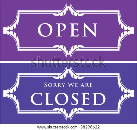 Vector open / closed sign - stock vector