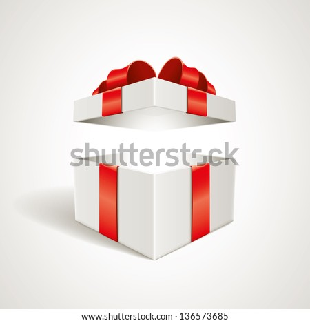 Vector open gift box illustration elements vector open gift box illustration elements are layered separately in vector file negle Choice Image