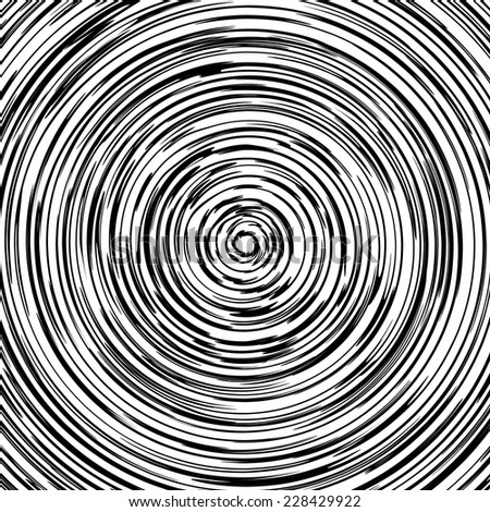Vector optical zoom black and white wood circle background - stock vector