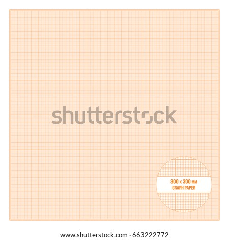 Vector orange printable metric graph paper stock vector 663222772 vector orange printable metric graph paper 30x30 cm size 1mm grid accented every centimeter malvernweather Gallery