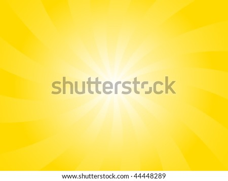 Vector Orange Sunburst Background