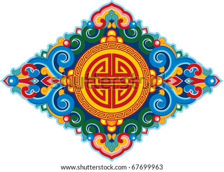 Vector Oriental Ornament (decoration pattern) - stock vector
