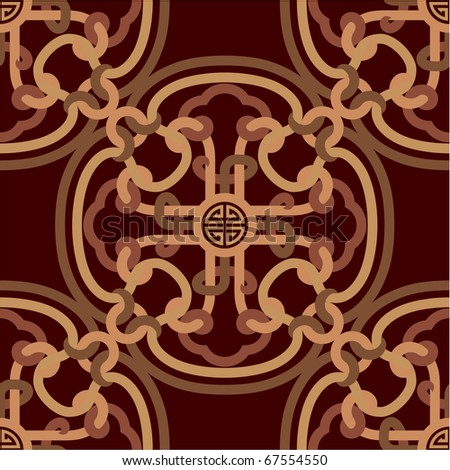 Vector Oriental Seamless Tile (wallpaper, pattern, background, texture)