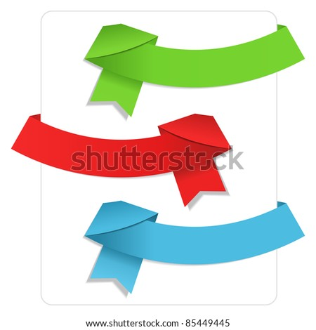Vector Origami Ribbons - stock vector