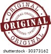 vector original abstract rubber stamp - stock photo
