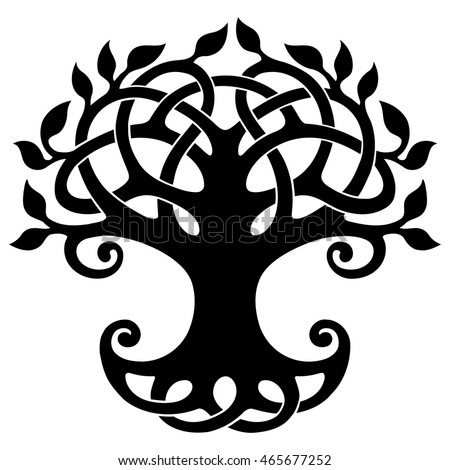 vector ornament decorative celtic tree life stock vector royalty