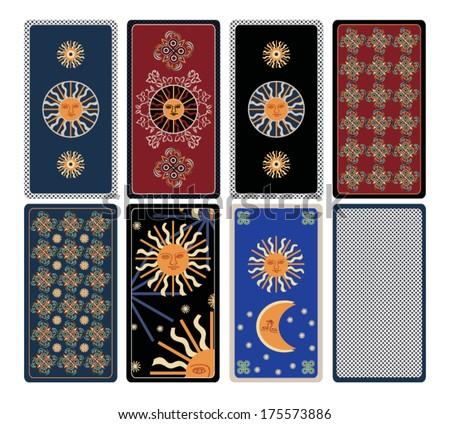 Vector ornament for Tarot cards - stock vector