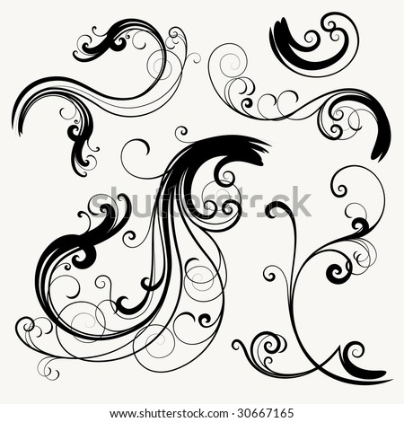 vector ornament In flower style - stock vector