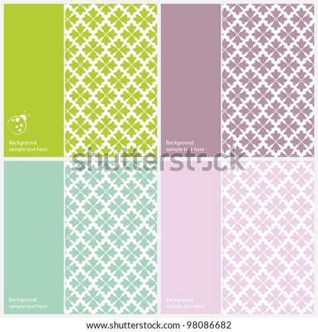 Vector ornament set background  (background behind the panel is complete). - stock vector