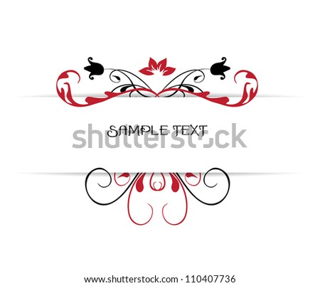 Vector ornamental banner - stock vector