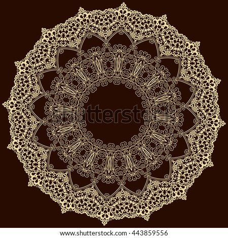 Vector ornamental circle. Template design for invitation card.