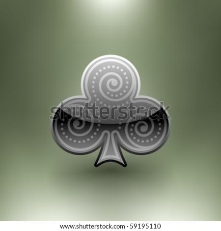 Vector Ornamental Poker Symbol - stock vector