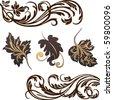 vector ornaments - stock vector