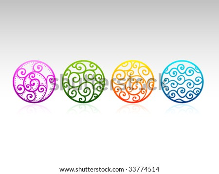 Vector Ornaments - stock vector