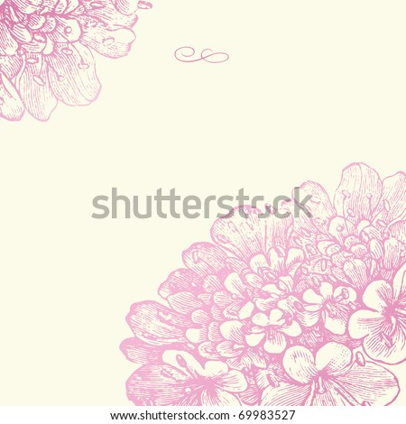 Vector ornate background. Easy to edit. Perfect for invitations or announcements. - stock vector