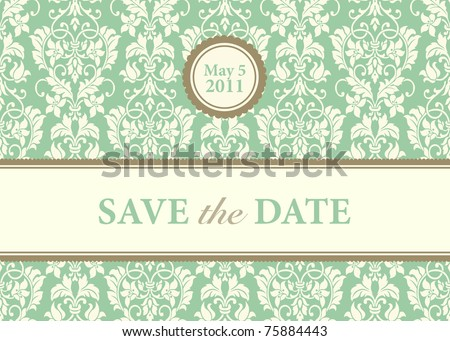 Vector Ornate Card Background. Easy to edit. Perfect for invitations or announcements. - stock vector