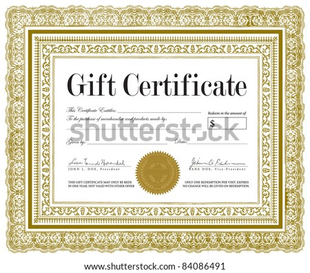 Vector Ornate Certificate Frame. Vector ornate frame. Easy to edit. - stock vector