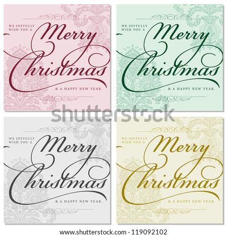 Vector Ornate Christmas Frames. Easy to edit. Perfect for invitations or announcements.