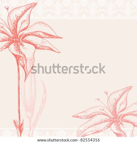 Vector ornate floral background - stock vector