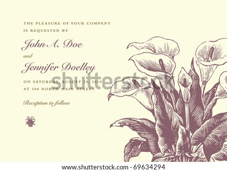 Vector ornate floral frame. Easy to edit. Perfect for invitations or announcements. - stock vector