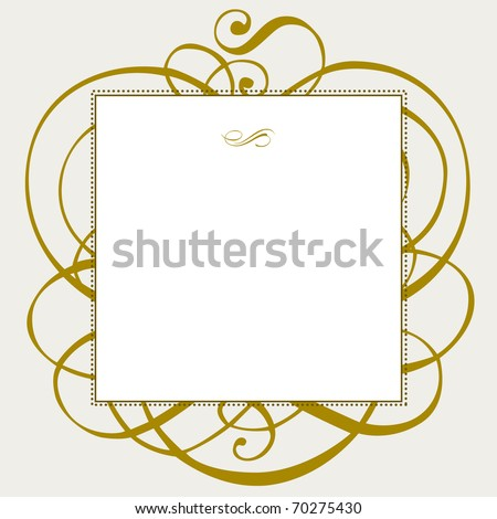 Vector ornate frame and ornaments. Easy to edit. Perfect for invitations or announcements. - stock vector