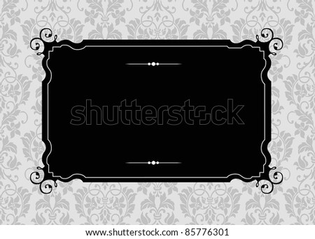 Vector Ornate Frame and Pattern. Easy to edit. Perfect for invitations or announcements. - stock vector