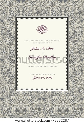 vector ornate frame easy to edit perfect for invitations or announcements