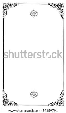 Vector ornate frame. Perfect as invitation or announcement. All pieces are separate. Easy to change colors and edit. - stock vector