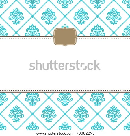 Vector ornate frames and pattern. Easy to edit. Perfect for invitations or announcements. - stock vector