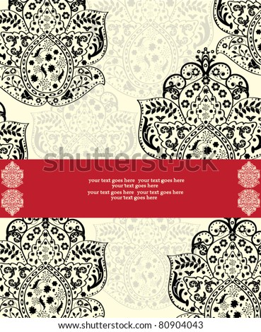 Vector Ornate Red and Black Frame
