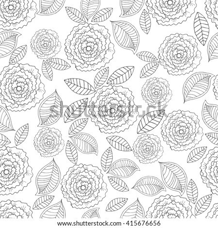 Vector Ornate seamless pattern with the stylized flowers. Seamless pattern can be used for wallpaper, pattern fills, web page background, surface textures.