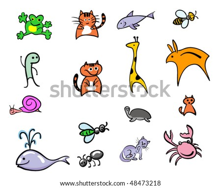 vector outline. animal set