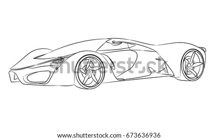 Supercars Stock Vectors Images Vector Art Shutterstock