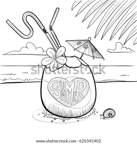 Cartoon Sandy Beach Stock Images Royalty Free Images