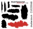 Vector outline traces of customizable organic paint brushes (strokes) in different shapes and styles, highly detailed. Grouped individually, easily editable. Collection set number 8. - stock vector
