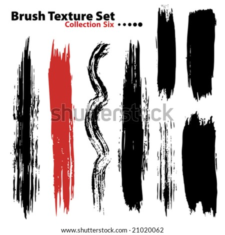 Vector outline traces of customizable organic paint brushes (strokes) in different shapes and styles, highly detailed. Grouped individually, easily editable. Collection set number 6.