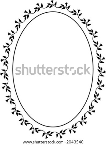 Vector oval decorative frame. This is a vector image - you can simply edit colors and shapes - stock vector