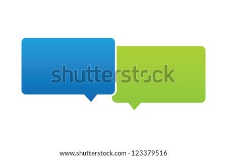 Vector Overlapping Speech Bubbles - stock vector
