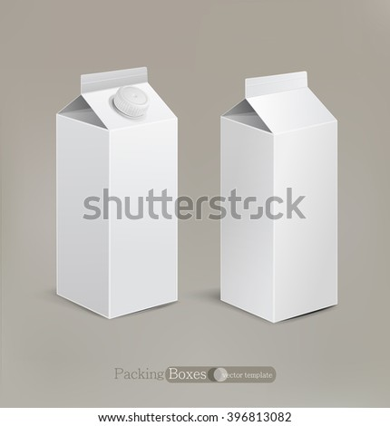Vector packaging isolated on a beige background - stock vector
