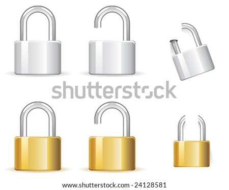 Vector padlock icon for web design - stock vector