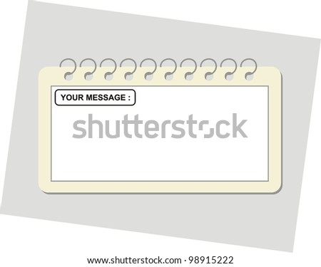 Vector page from notepad