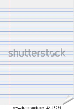 Vector page from notepad (notebook paper) - stock vector