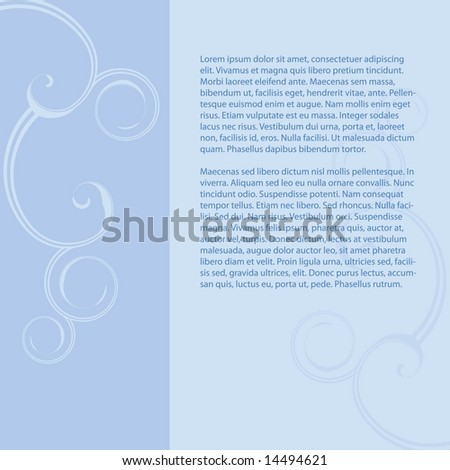 Vector page layout with flourish embellishments and space open to add your own copy - stock vector